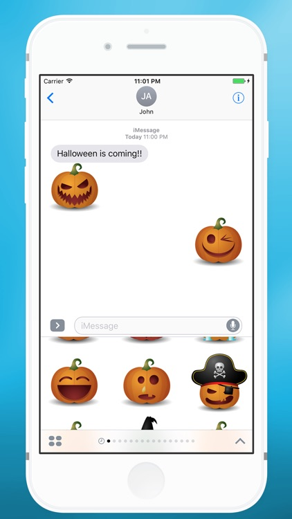 Halloween Pumpkin Emoji for iMessage
