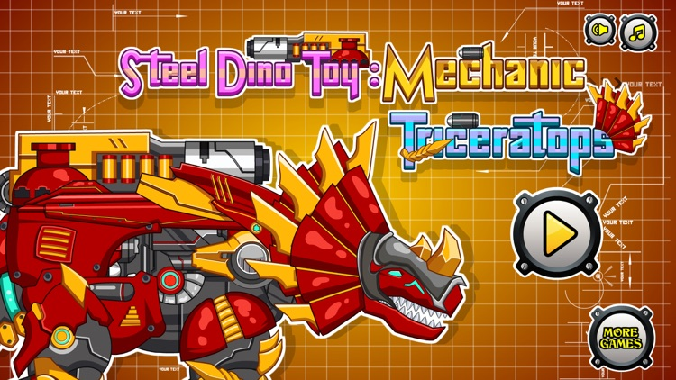 Steel Dino Toy : Triceratops