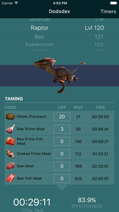 Screenshot for Dododex: ARK Survival Evolved in United States App Store