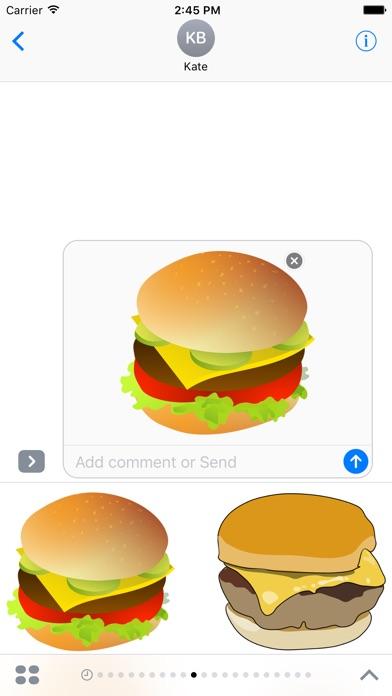 漢堡包貼紙屏幕截圖2