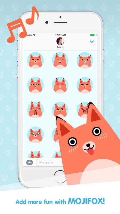 Moji Fox Stickers