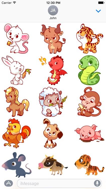 Chinese Zodiac - Luna Year Sticker Pack 02