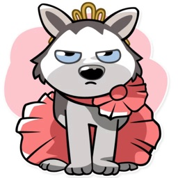Bad Husky iMessage stickers