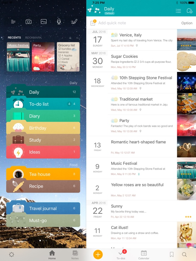 Awesome Note 2 for iPad (+To-do/Calendar/Task) Screenshot