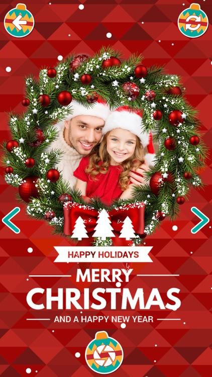 christmas decorations camera stickers photo editor