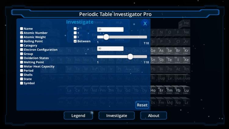 Periodic Table Investigator Pro screenshot-3