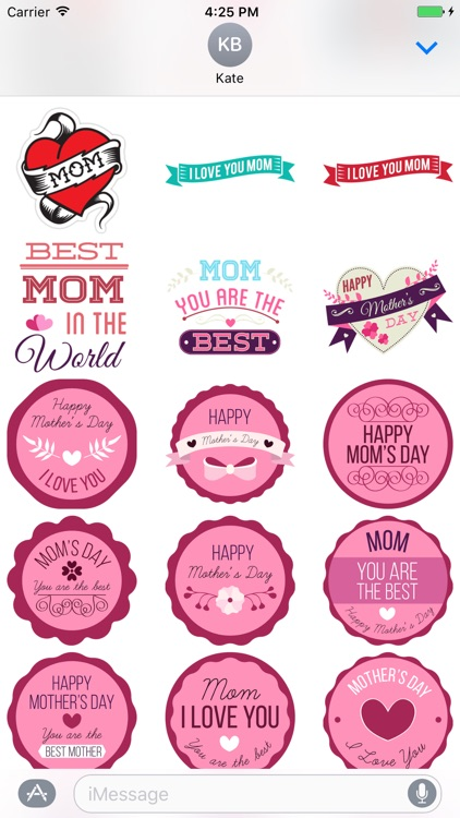 I love my Mom - stickers for iMessage screenshot-4