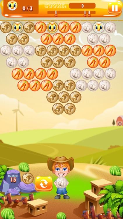 Farmer Bubble Shooter : Pop Farm Fruit Bubbles screenshot-4