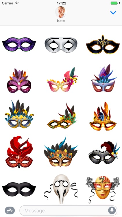 Carnival Mask - Stickers for iMessage
