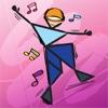 儿童七巧板益智拼图:舞蹈动作和姿势