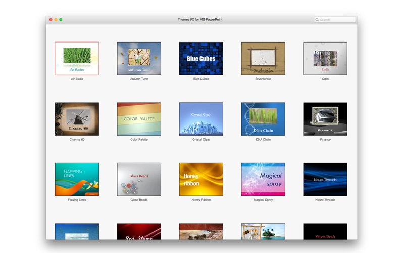 Themes FX for MS PowerPoint Screenshot