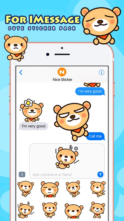 Fly Bear Pro - Cute Stickers by NICE Sticker screenshot-3