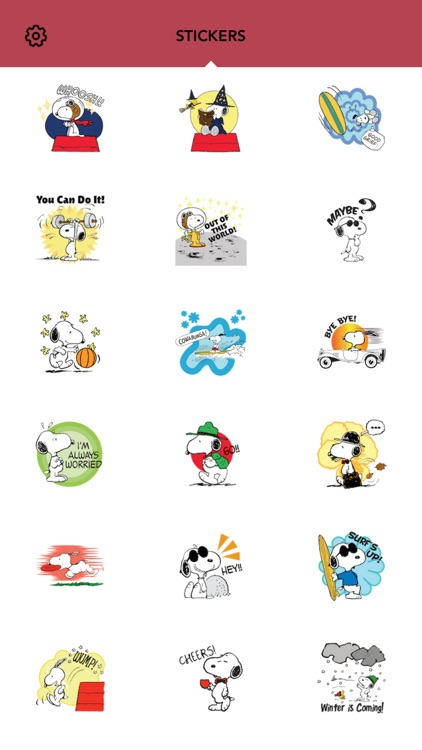 Snoopy Emoji screenshot-2