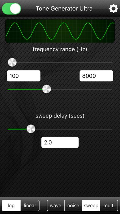 Screenshot #3 pour Tone Generator Ultra