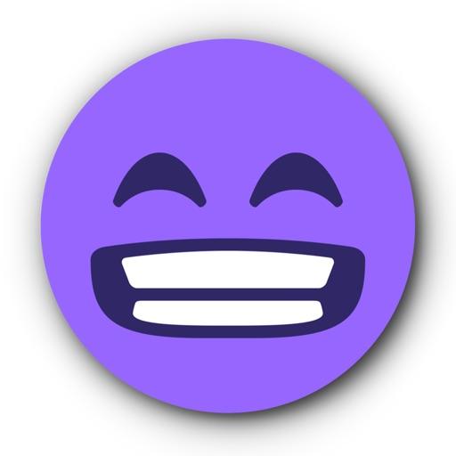 PURPLE Emoji • Stickers for iMessage