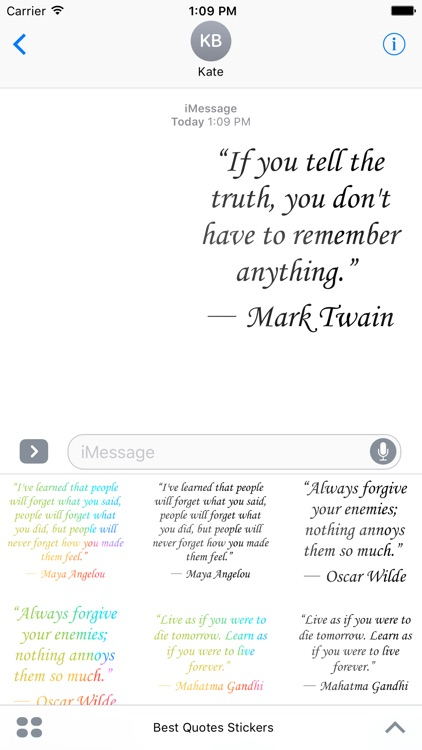 Best Quotes Stickers For iMessage