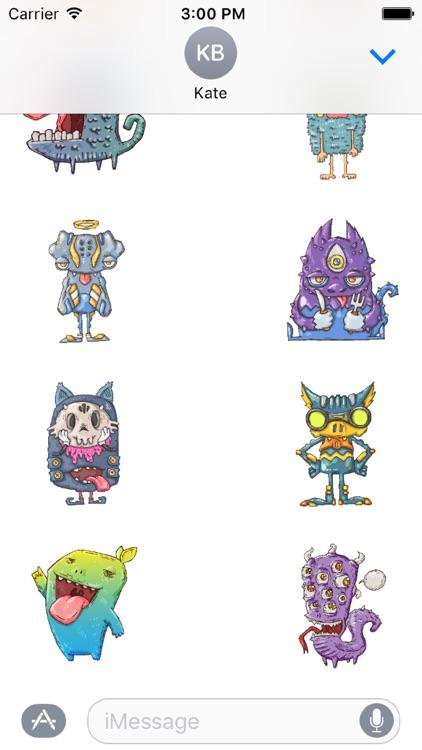 Happy Halloween Monster Stickers