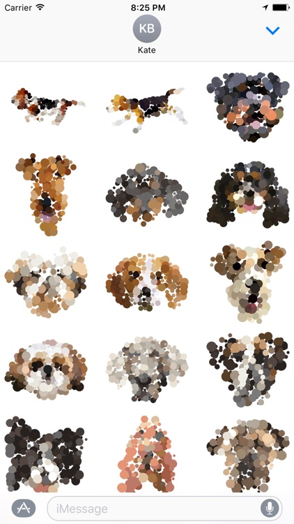 Dotted Dogs Stickers screenshot-0