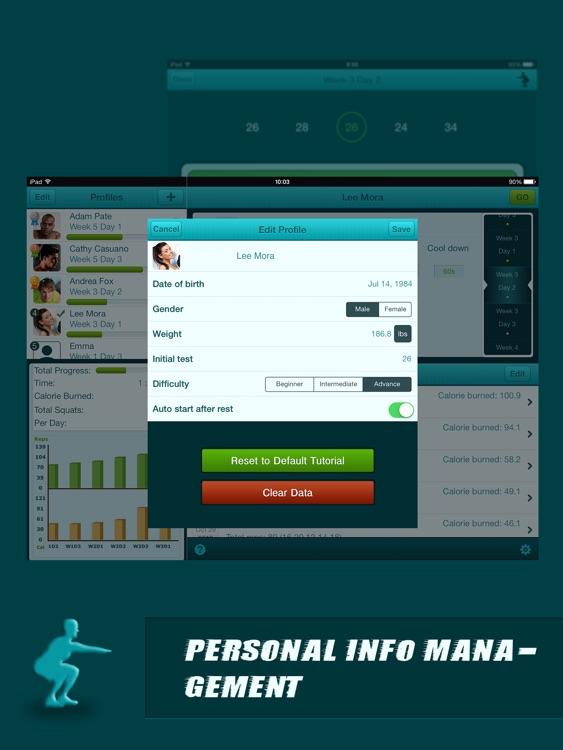 Squats Coach Pro for iPad - Do 200 Squats screenshot-4