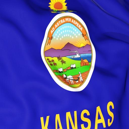 Kansas Flag Stickers