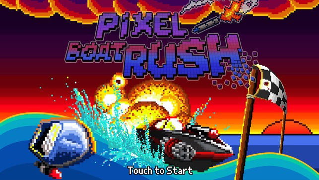 Pixel Boat Rush Screenshot