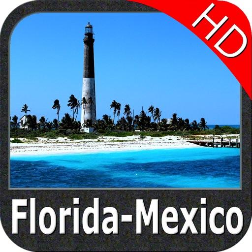 Marine : Florida to Mexico HD - GPS Map Navigator