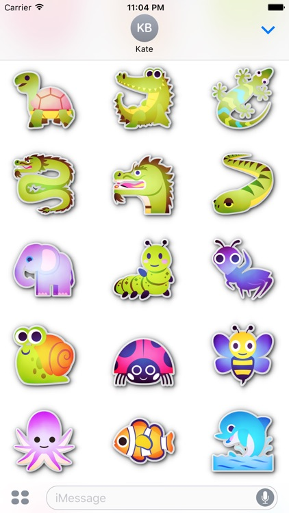 Animals emoticons • Stickers for iMessage screenshot-4