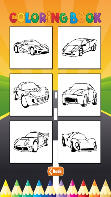 luxury Car Coloring Book - Activities for Kids screenshot-4