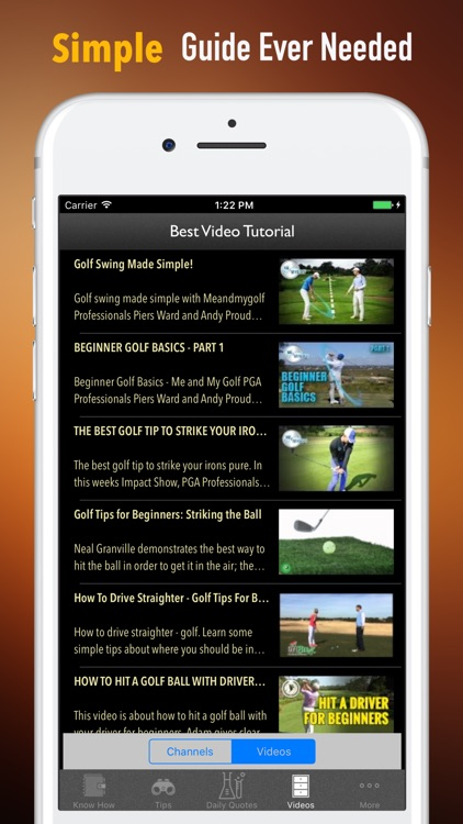 Golf for Beginners-Video Lessons and Reference
