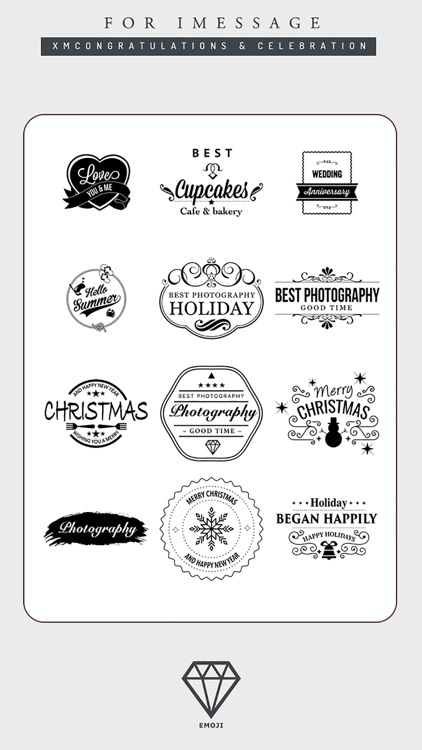 B&W Emoji Keyboard - Gift Sticker for Messenger screenshot-3