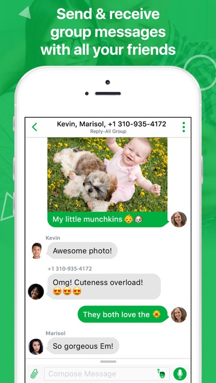 textPlus: Unlimited SMS Texting + Calling app image