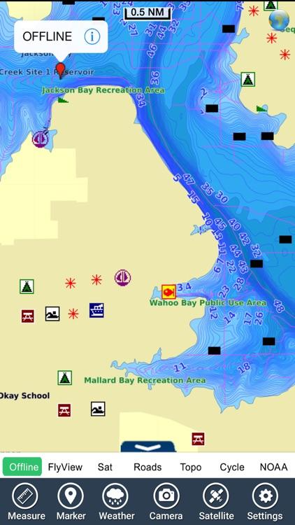 Lake Fort Gibson Oklahoma GPS chart Navigator