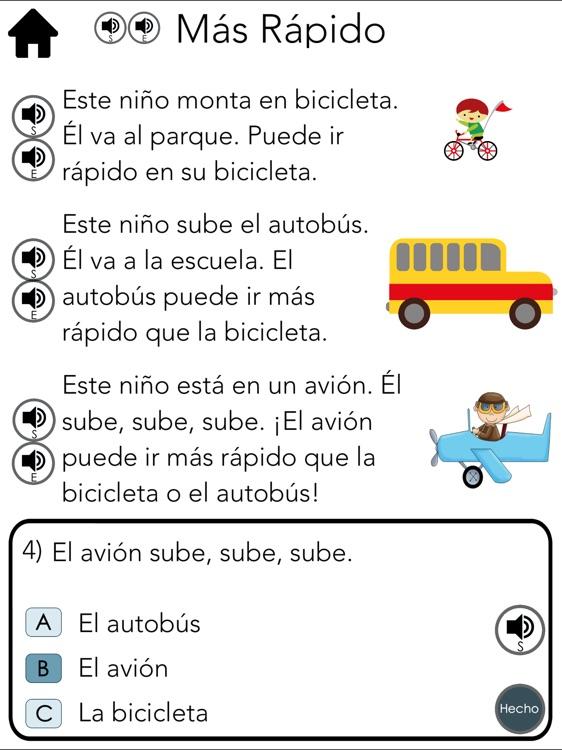 Spanish Reading Level 4 screenshot-3