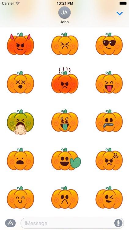 Jack-o-Moji Stickers by Mojimade screenshot-1