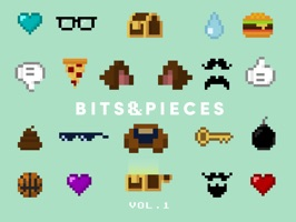 Mikevdesign presents his very first sticker pack: Bits & Pieces Vol