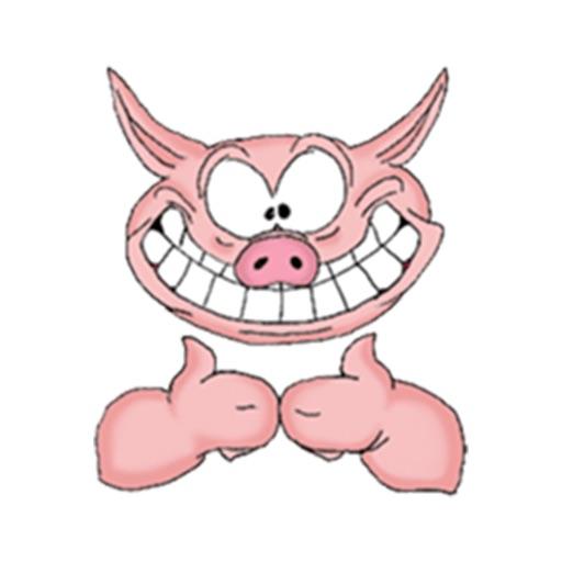 Funny Pig Sticker