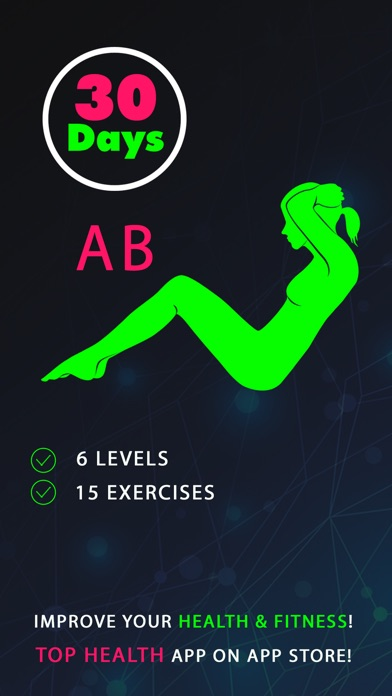 30 Day Ab Fitness Challenges ~ Daily Workout app image