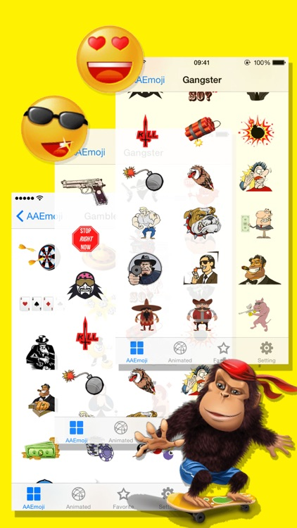 AA Emoji Keyboard - Animated Smiley Me Adult Icons screenshot-3