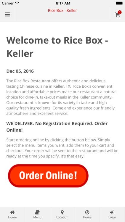 Rice Box - Keller