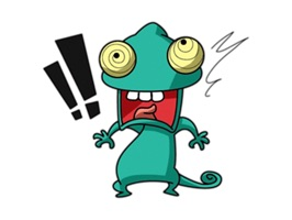 Naughty Chameleon - Cute stickers for iMessage