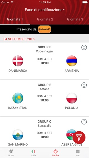 UEFA European Qualifiers Screenshot