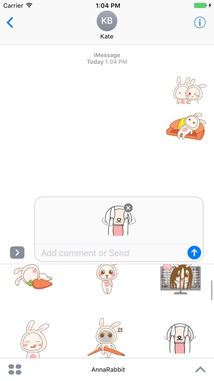 Anna Rabbit animated stickers