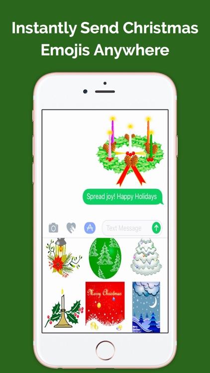ChristmasMojis: Emoji Keyboard App screenshot-3