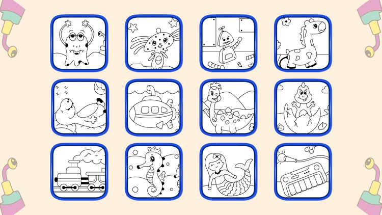 Kids Coloring Book and Patterns screenshot-4