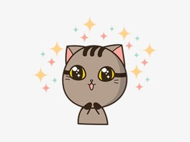 Express yourself in richer ways by using this adorable Drek the cat Animated Sticker Pack