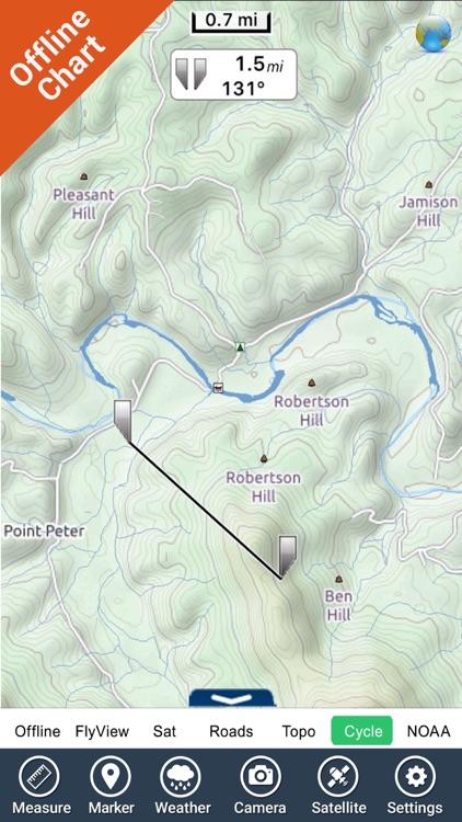 Buffalo National River - GPS Map Navigator