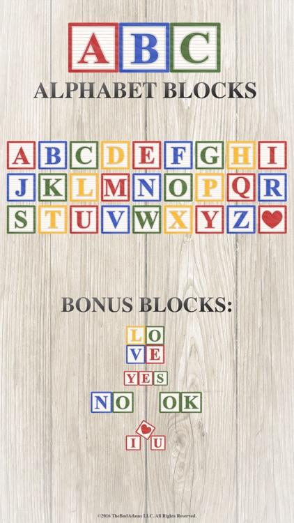 Alphabet Blocks Sticker Collection
