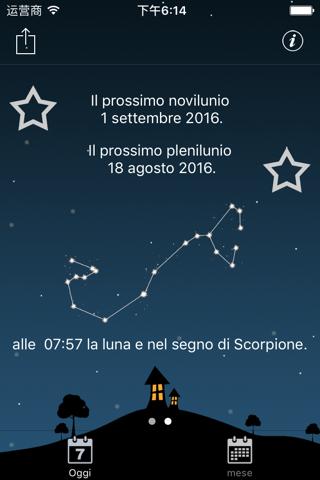 Moon phases calendar and sky screenshot 3