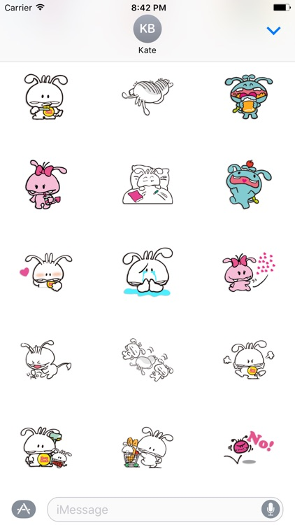 Shiro The Rabbit - Thanksgiving day stickers pack