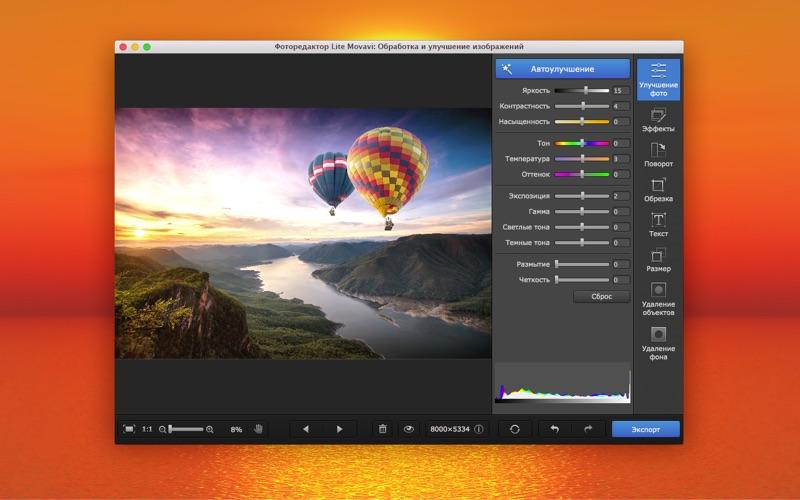 Фоторедактор Lite Movavi: Улучшение изображений скриншот программы 1